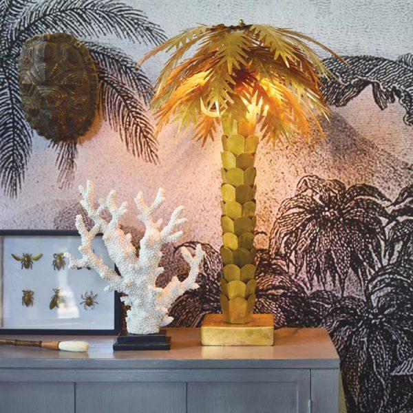 Tafellamp Palm Messing van HK Living