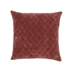 Sierkussen Cuddle Diamond Marroon Fluweel - BePureHome