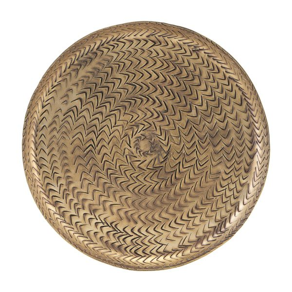 Dienblad Rattan Brass Finish - House Doctor