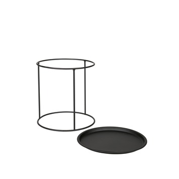 Ivar M Sidetable Metal Black - Woood
