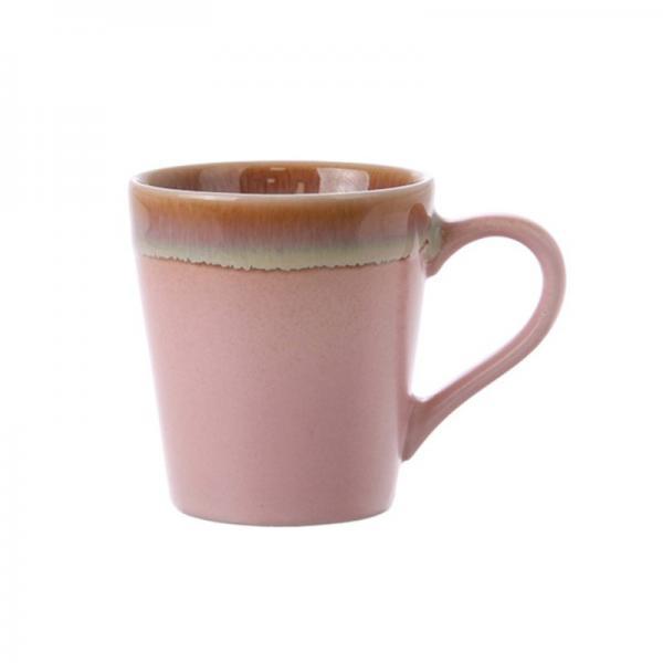 Espressomok 70's Keramiek Pink - HK Living