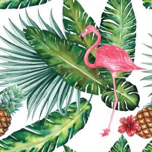 Print Op Hout Flamingo - Wallsigning