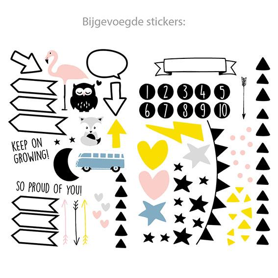 Meetlat Met Stickers - My Paperstation