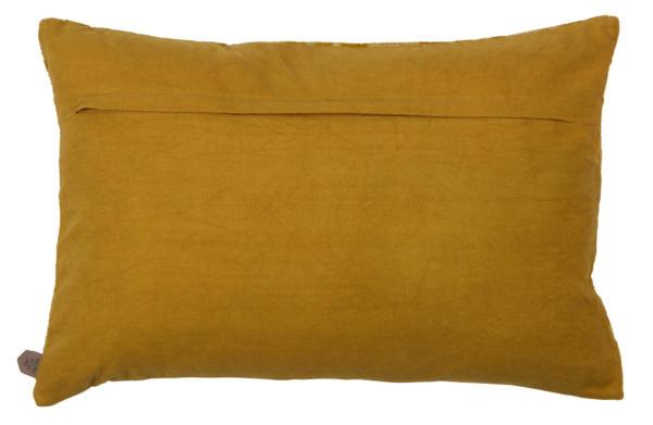 Sierkussen Cross Stitch Fluweel Mosterd - BePureHome