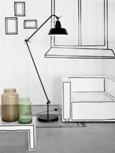 Simpele design vloerlamp