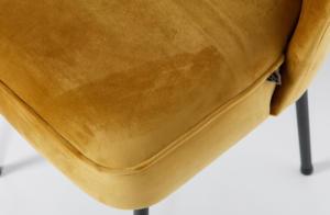 Eetkamerstoel Vogue Fluweel Mustard - BePureHome