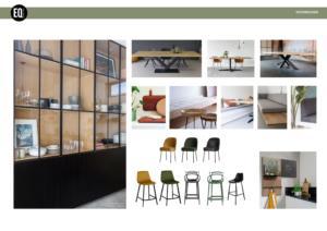 Mix&match stoelen aan eettafel en bar