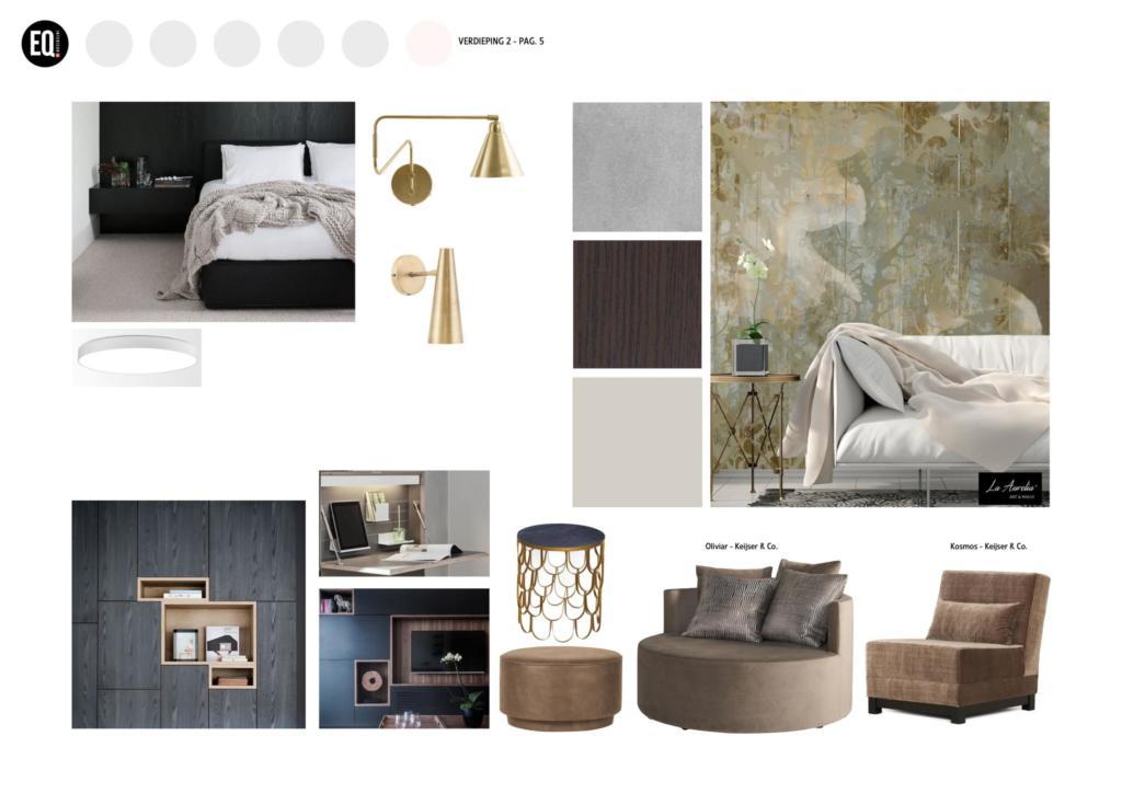 Interieuradvies en interieurontwerp slaapkamer grachtenpand Zwolle