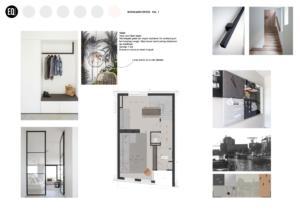 Interieuradvies en interieurontwerphal:entree grachtenpand Zwolle