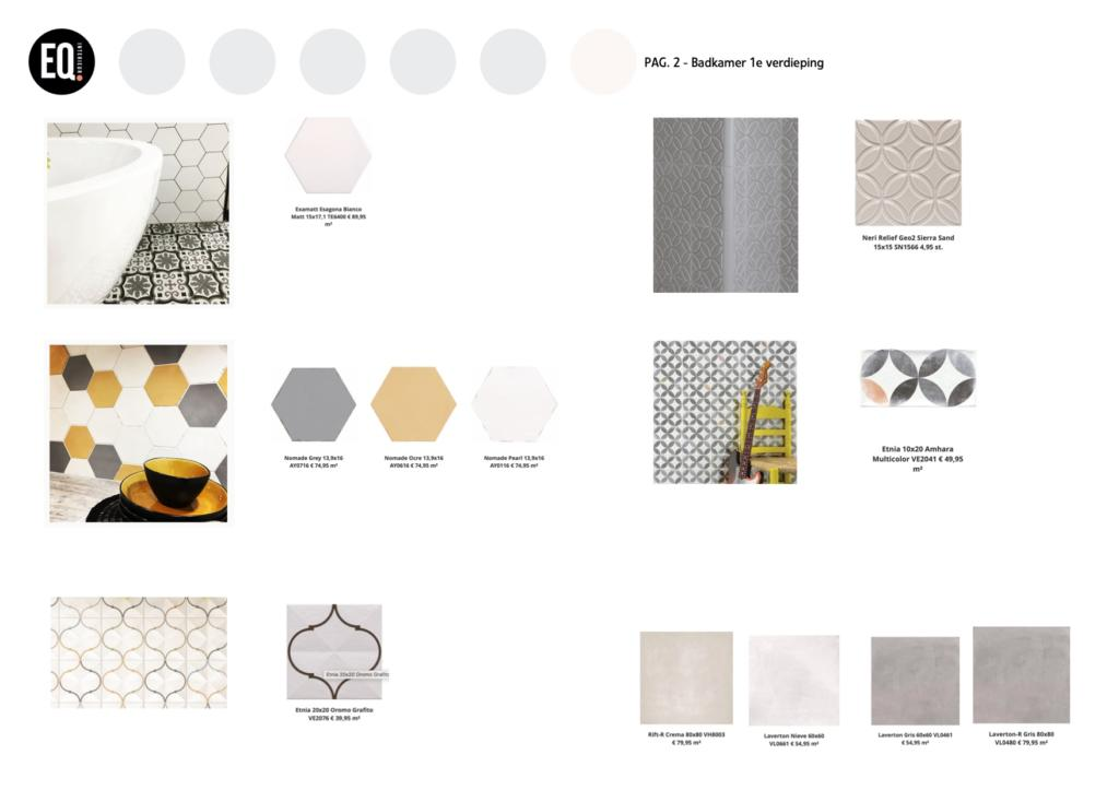 Interieuradvies kleur en materiaal tegels badkamer