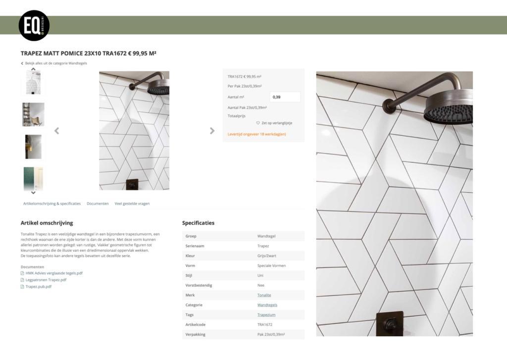 Interieuradvies kleur en materiaal tegeltjes badkamer