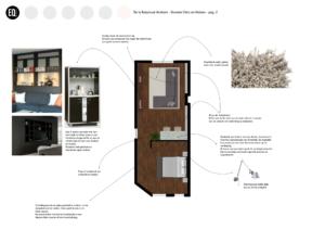 Interieurontwerp smalle slaapkamer grachtenpand